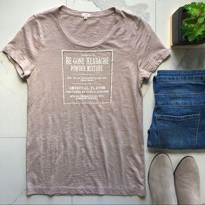 J. Crew Tan Graphic Tee Shirt